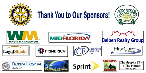 Thanks to all our sponsors.