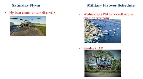 Escort info and Flyover Schedule